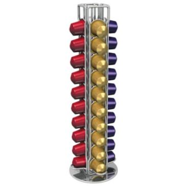Nordic Quality - Kapselholder med roterende base til Nespresso kapsler (40 stk.)