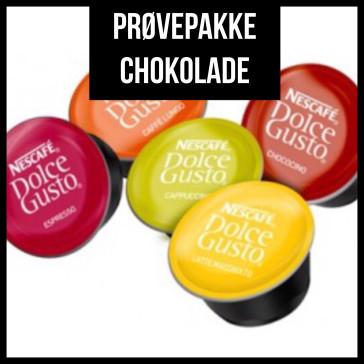 Prøvepakke - Chokolade fra Dolce Gusto - 6 kapsler