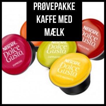 Prøvepakke - Kaffe med Mælk fra Dolce Gusto - 34 kapsler