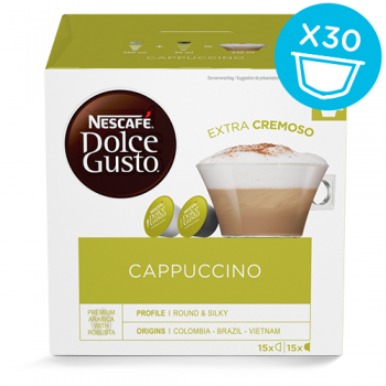 Dolce Gusto Cappuccino - BIG PACK - 30 kapsler