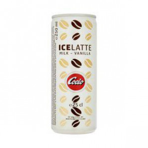 Cocio Ice Latte Milk-Vanilla 250 ml - Iskaffe