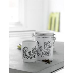 Kaffedåse m/ kunst kop - Steel Function