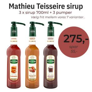 Mathieu Teisseire Pakketilbud - 3 flasker (700ml) + 3 pumper