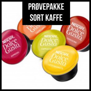 Prøvepakke - Sort Kaffe fra Dolce Gusto - 30 kapsler